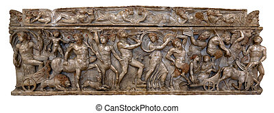Greco-Roman marble sarcophagus