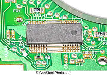 printed circuit boards - closeup of printed circuit boards