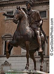 The original Equestrian Statue of Marcus Aurelius is an...