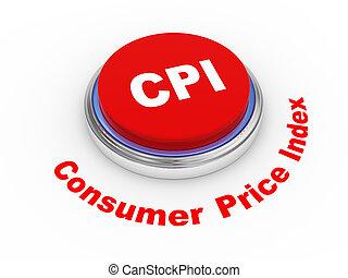 3d CPI Consumer Price Index - 3d illustration of CPI (...