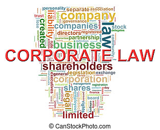 Corporate law word tags - Illustration of Worldcloud word...