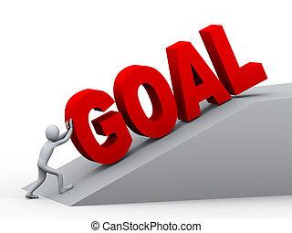 3d man pushing goal