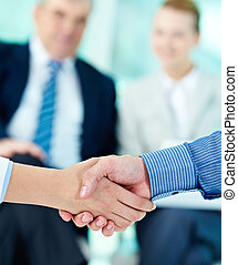 Making agreement - Photo of handshake of business partners...