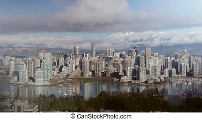 Downtown Vancouver Timelapse - View of downtown Vancouver...