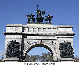 Soldiers and Sailors Monument - BROOKLYN, NEW YORK -...