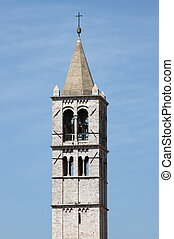 Bell Tower of St. Claire Cathedral in Assisi