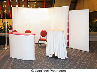 Modular stand - Modular exibition stand with empty white...
