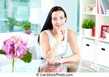 Romantic lady - Portrait of a beautiful lady being in a...