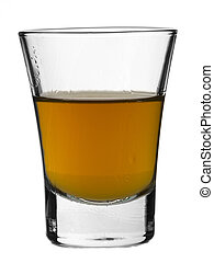 Shot of whisky - A shot of whisky on white background