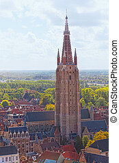 View of Church Of Our Lady Bruges, Bruges. Belgium