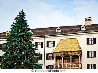 Golden Roof with Christmas Tree