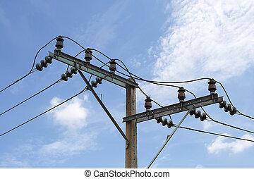 power pole against the sky