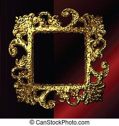 vector golden frames set