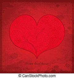 Valentine`s Day vintage gift card