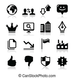Modern application website icons - Modern application...