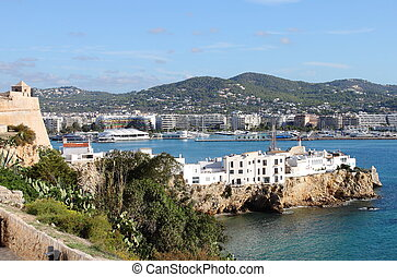 Sa Penya Distric in Ibiza Town, Balearic Islands, Spain