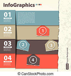 Modern Design template with infographics