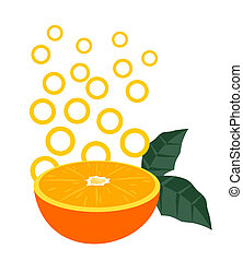 Orange fruit icon - Creative design of orange fruit icon