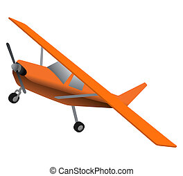 Orange plane - Creative design of orange plane