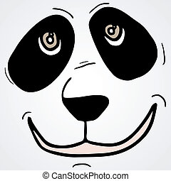 Panda face - Creative design of panda face