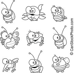 Cartoon insects - Some cartoon insects (ladybug, scorpion,...