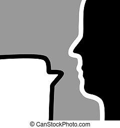 People shadow talk