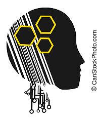 Robot helmet - Creative design of robot helmet