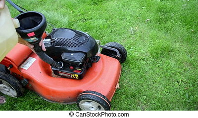 grass mower fuel tank