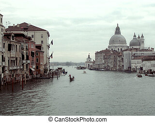 Grand Canal and Basilica Santa Maria Venice - view at Grand...