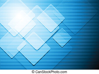Vibrant blue vector background