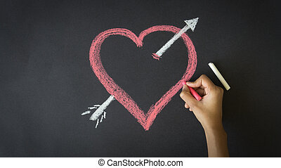 Valentines Day Heart - Person drawing a Valentines Day Heart...