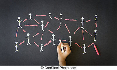People Network - Person drawing a People Network...