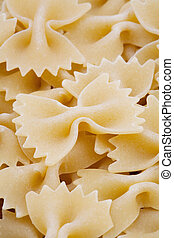 Raw pasta close-up