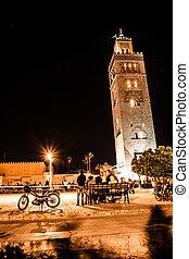 Koutoubia, mosquée, Marrakech, maroc, afrique