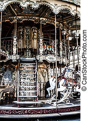 Merry go round in Paris HDR image