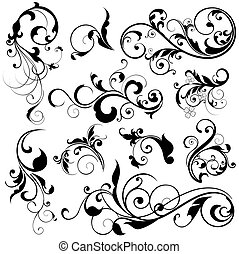 floral design elements - illustration drawing of floral...