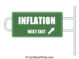 Inflation - Rendered artwork with white background