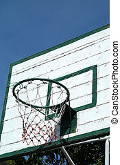 Backboard - Wooden backboard with a sky blue