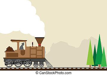 retro train