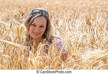 happy girl - Girl in cereals