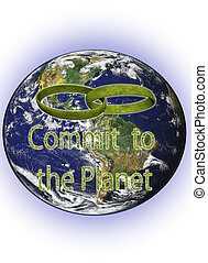 Commit to the planet - An illustration related with the...