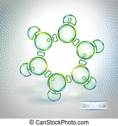 Abstract background benzene molecule