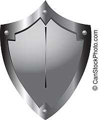 Medieval shield - Steel shield medieval warrior heraldic...