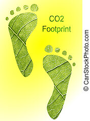 CO2 Footprint - A CO2 footprint illustration