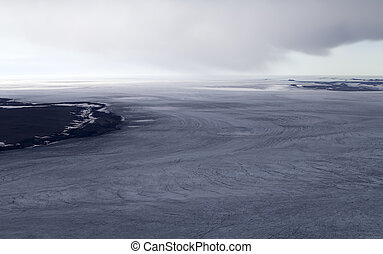 Glacial landform - Glacial and ice dome. North island,...