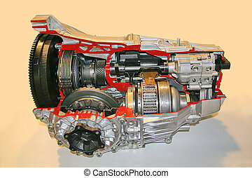 Gearbox cross section isolated 3D - Educatioonal