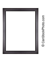 Black Picture Frame - Empty black picture frame, isolated on...