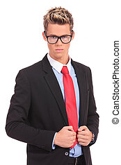 executive wearing glasses - shot of executive wearing...