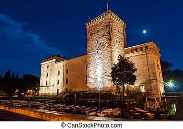 The museum building in the Italian city Riva del Garda