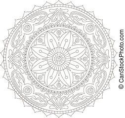Mandala doodle - Beautiful hand-drawn doodle mandala